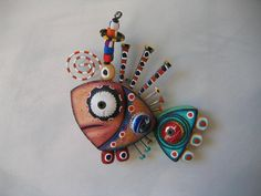 Twisted Fish 122 - Found Object Wall Art by Fig Jam Studio