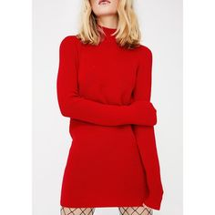 Open Back Sweater Dress ($38) ❤ liked on Polyvore featuring dresses, open back dresses, open back sweater dress, red sweater dress, red open back dress and red dresses