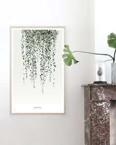 String of PearlsBotanics Watercolor painting printed on250 g. fine art photo paper. Limited edition of 300.Signed by artist with handwritten numbering.SHIPPINGThe art print is sold unframed and carefully packed and shipped in a cardboard tube to avoid damage during shipping.