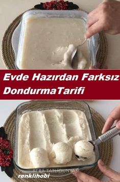 Vegan Ice Cream, Turkish Recipes, Ice Cream Recipes, Food Art, Food And Drink, Yummy Food, Healthy Recipes, Cheese, Homemade