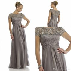 Mother Of The Groom Dresses Canada Vintage 2015 Sheer Mother Of The Bride Dresses A Line High Collar Short Cap Sleeves Beaded Gray Long Brides Mother Dresses For Weddings Mother Of Groom Dresses For Fall From Beautydesign, $103.01| Dhgate.Com