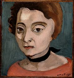 Marguerite (1916) , Henri Matisse  (French, Le Cateau-Cambrésis 1869–1954 Nice). Medium: Oil on wood Dimensions: 7 1/2 x 7 in. (19.1 x 17.8 cm) Classification: Paintings