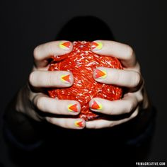 NAILS DID : Neon Overlapping Deep V Manicure