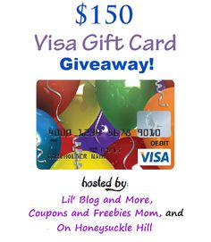 Welcome to the $150 Visa Gift Card giveaway event!  This event is hosted by: Lil' Blog and More, Coupons and Freebies Mom, and On Honeysuckle Hill.  This great group of bloggers have come together to bring one awesome giveaway prize, to one lucky winner! We are very happy to have a $150 Visa gift card up for grabs!It is hard to believe that yesterday was the first day...
