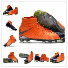 sports shoes 1eaf3 c01d4 News Nike Hypervenom Phantom 3 DF FG Boots Blue Orange is designed to  increase shot velocity and enable quick changes of direction on short-grass  fields.