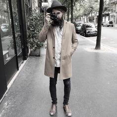 Anthony Bogdan Hairy Men, Gentleman, Duster Coat, Hipster, Mens Fashion, Jackets, Goals, Style, Fashion