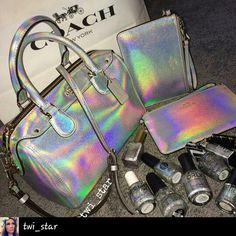 Absolutely luvvv this! From #twi_star om instagram #holo #coachbag #coach #wristlet #purses #coachpurse #holopolish #holographic