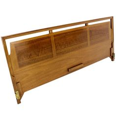 View this item and discover similar for sale at - Nice quality mid century modern walnut headboard. Modern Beds, Mid-century Modern, King Headboard, King Beds, Danish Modern, Cot, Bed Design, Oasis, Mid Century