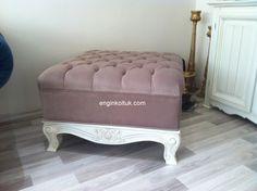 Modern ve klasik döşemelik kumaşlarla birçok model özel imalat yapmaktayız Engin #Mobilya pm28 İşlemeli #puf #koltuk