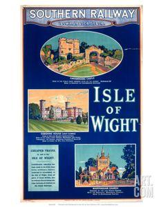 Isle of Wight, Southern Railway, c.1923 Art Print at Art.com