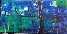 Items similar to Message in a Tree Series: Peace Tree, Original Abstract Tree Painting on Canvas, Purple/Blue/Green/Pink/White on Etsy Abstract Tree Painting, Blue Green, Purple, Pink White, Original Artwork, Color Schemes, Bee, Messages, Canvas