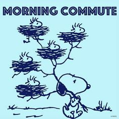 #pnts #snoopy #woodstocks #morming #commute