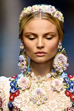 Dolce and Gabbana F/W 2012. I just love the intricate Baroque details.