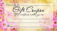Diy free, printable gift coupon - give a gift from the heart this mother's day Printable Vouchers, Free Printable Gift Certificates, Printable Gift Cards, Free Printable Coupons, Certificate Templates, Templates Printable Free, Free Gift Voucher Template, Certificates Online, Gift Vouchers