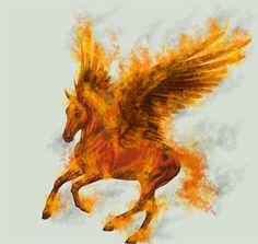 Fire Pegasus Version II by EscyKane.deviantart.com on @DeviantArt