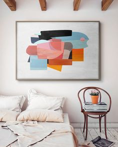 Original Abstract Painting by Daniel Bautista Diy Wall Art, Home Decor Wall Art, Home Art, Collages, Architectural Digest, Wall Art Designs, Abstract Wall Art, Painting Inspiration, Printable Wall Art
