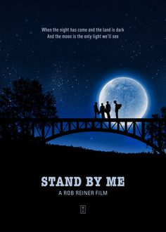 Stand by Me Minimalist Movie Poster available as a metal poster / print on Displate Disney Movie Posters, Iconic Movie Posters, Minimal Movie Posters, Minimal Poster, Original Movie Posters, Movie Poster Art, Iconic Movies, Film Posters, Stand By Me