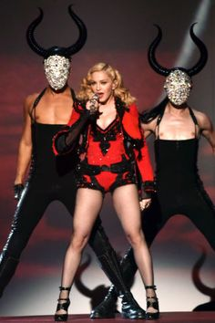 Check out the best stage costumes from the Grammys: Madonna in Givenchy by Riccardo Tisci.