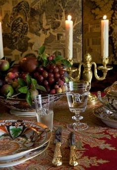 Carolyne Roehm - wonderfully rich colors - Traditional Style - Gracious Entertaining