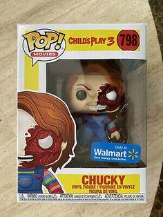 Funko Pop Movies Childs Play 3 Chucky 798 Half Face Walmart Bride for sale online Funko Pop Toys, Funko Pop Figures, Pop Vinyl Figures, Funko Pop Vinyl, Toys R Us Geoffrey, Childs Play Chucky, Deadpool, Pokemon Bulbasaur, Michael Jackson Vinyl