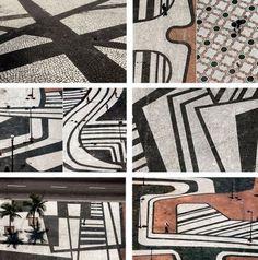 Projeto original das calçadas de Copacabana. Burle Marx babado confusão e gritaria, hauhauhauhau