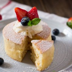 Extra thick and fluffy Japanese style pancakes