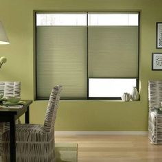 Bay Leaf 64-64.5-inch Cordless Top Down Bottom Up Cellular Shades (64 1/2W x 76H Bay Leaf), Green (Polyester)