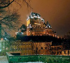 This is in Quebec, Quebec, Canada. I have been here... it was my fav place on my whole trip through Canada. There is the modern part and then the old part... absolutly beautiful!