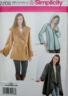 Simplicity 2208 Misses' Fleece Jackets New/Uncut by PatternDepot