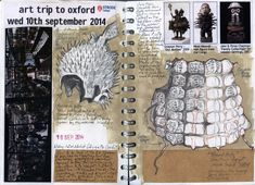 Back in the Pitt Rivers Museum drawing with the students. Terrific armour. September 2014. UK Artist: Duncan Cameron