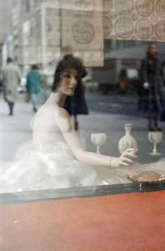 """Saul Leiter (born 1923) is an American photographer and painter whose early work in the 1940s and 1950s was an important contribution to what came to be recognized as The New York School. His abstracted forms and radically innovative compositions have a painterly quality that stands out among the work of his contemporaries. Martin Harrison said, """"He sought out moments of quiet humanity in the Manhattan maelstrom, forging a unique urban pastoral from the most unlikely of circumstances."""""""