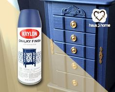 I used Krylon's new line of Chalky paint to transform this jewelry armoire. And the best part was, it cost me $14. The paint went on smooth and was easy to use!  haus2home.com #Krylon