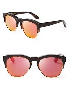 WILDFOX Club Fox Deluxe Mirrored Sunglasses | Bloomingdale's