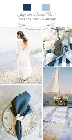 Newport News Maritime Wedding Inspiration - Romantic nautical maritime wedding - Wedding Themes, Wedding Designs, Wedding Colors, Wedding Styles, Wedding Photos, Wedding Ideas, Nantucket Wedding, Cape Cod Wedding, Cruise Wedding