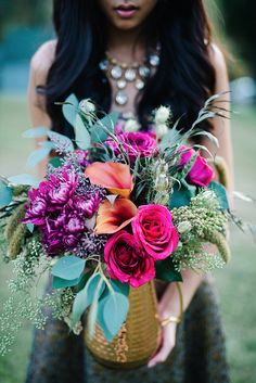 This shoot was inspired by modern fashion and design trends. While this is blended with bohemian vibes, we wanted to stick to metallics to truly make this shoot stand out. We incorporated the metallics on each tablescape as well as within the dresses worn for the day. Wildwood Watters did a fabulous job on the designing the florals - it was her idea to incorporate the plant-life into the moscow mule mug as well as the copper pitcher that was used for the bridal bouquet/bridesmaid