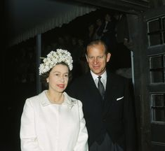 Queen Elizabeth II and Prince Philip at the dedication of a Knights Bachelor temple at the church of St. Bartholomew The Great, London, July (Photo by George Freston/Hulton Archive/Getty Images) via