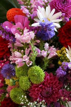 One beautifully mixed floral bouquet now and then... that's all I want from my garden.