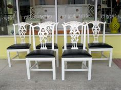 white chipendale chairs