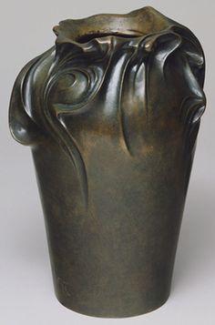 "Hector Guimard (1867–1942) - Bronze Vase. Bronze. Circa 1898. 10-1/2"" x 7"" (26.7cm x 17.8cm)."