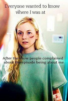 The Walking Dead funny meme Season 5 #TWD lol... poor Beth RIP