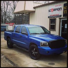 Dodge Dakota tinted up with Scorpion! Love the color on this truck!