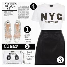"""Clear Accessories"" by tawnee-tnt ❤ liked on Polyvore featuring Chanel, Aperlaï, New Look, Topshop, clear and Seethru"