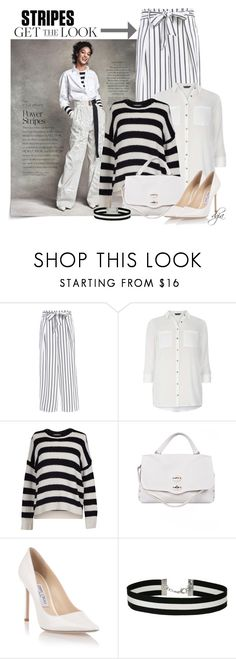 """""""Striped Top, Striped Bottom"""" by dgia ❤ liked on Polyvore featuring Dorothy Perkins, Velvet by Graham & Spencer, Zanellato, Jimmy Choo and Miss Selfridge"""
