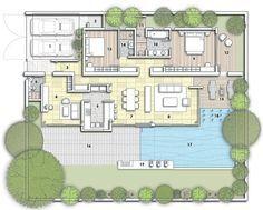 Phuket Floor plan of The Villa