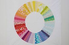 Christine Chitnis: Summering--color wheel quilt