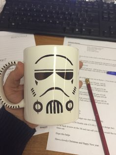 DIY sharpie mug, Star Wars, storm trooper