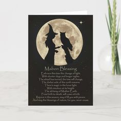 Shop Wicca Pagan Mabon Blessings Autumn Equinox Card created by animaltotems. Halloween Owl, Happy Halloween, Halloween Cards, Autumnal Equinox Celebration, Wicca Holidays, Owl Card, Wiccan Spell Book, Wiccan Books, Owl Silhouette
