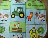Bib for Baby or Toddler John Deere Animals Handmade