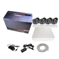 Good price 4CH 720 HD NVR Kit 4pcs 720P 1.0M IP Cameras POE Power Supply,Iphone And Andriod View best buy