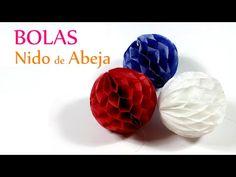 Cómo hacer bolas nido de abeja para decorar http://ini.es/1Eh1M3O #Decoración, #DIY, #Manualidades